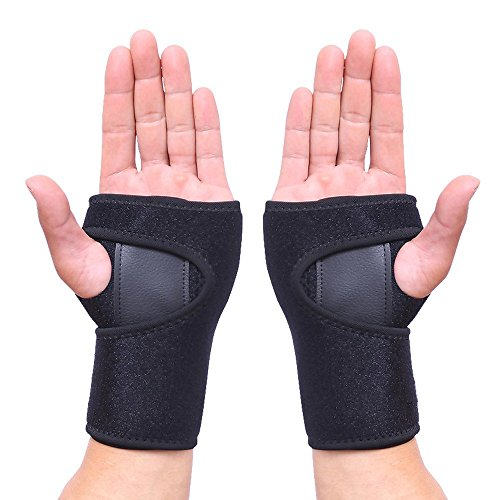 HEIRBLS Wrist Brace, Wrist Support Removable Wrist Hand Splint Support Training Protector, Cushioned to Help with Carpal Tunnel and Relieve and Treat Wrist Pain (Removable Braces)