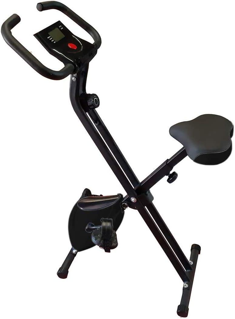 HANKING PLANET Bicicleta estatica Plegable de Resistencia magnética, Bicicleta Plegable Spinning 8 Niveles de Intensidad, Pantalla LCD, Velocidad, calorias, Distancia.