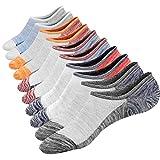 M&Z Mens No Show Casual Cotton Low Cut Non-Slide Socks Mesh Knit Ventilation 5Pack