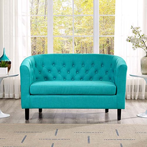 Modway Prospect Upholstered Contemporary Modern Loveseat In Pure Water by Modway