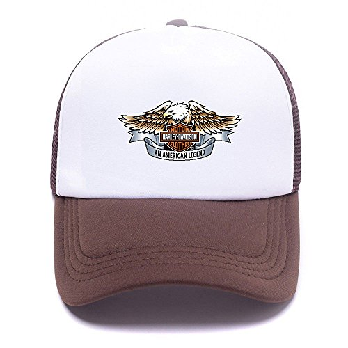 Harley D Black Baseball Caps Gorras de béisbol Trucker Hat Mesh Cap For Men Women Boy Girl 008 Brown