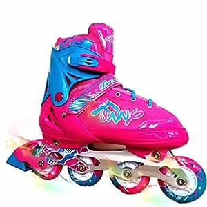 Amazon.com: Patines en línea para niños ajustable patines ...