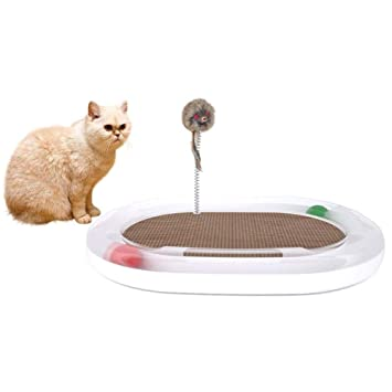 Arvin87Lyly Gatos Juguete Inter Activo Juguete Well – Papel para Gatos Tabla, atrapar Ratones Gatos
