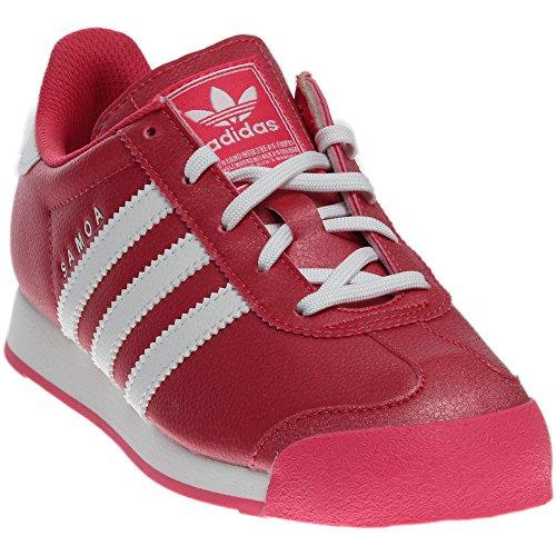adidas Originals Girls' Samoa C Skate Shoe, Bahia Pink/White/Bahia Pink S, 1 M US Little Kid