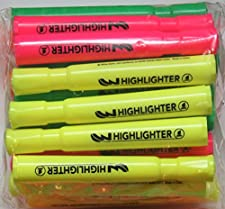 Highlighters Pink, Orange and Green