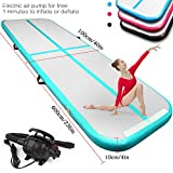 #5: FBSPORT 9.84ft/13.12ft/16.4ft/19.68ft air track tumbling mat inflatable gymnastics airtrack with Electric Air Pump for Practice Gymnastics,Cheerleading, Tumbling,Parkour, and Martial Arts