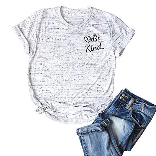 NEARTIME Plus Size Cotton Tee for Women,Ladies O-Neck Short Sleeve Pocket Plus Size Casual Top Summer V Neck Shirts ()