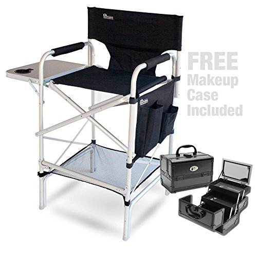 Earth Pro Makeup Artist Chair (w/ Makeup Case: Value) & S...