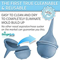 BoogieBulb Baby Nasal Aspirator and Booger Sucker for Newborns Toddlers & Adu...