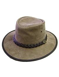 Modestone Unisex Crushable BC Hat Australian Steer Hide Suede Cowboy Hat