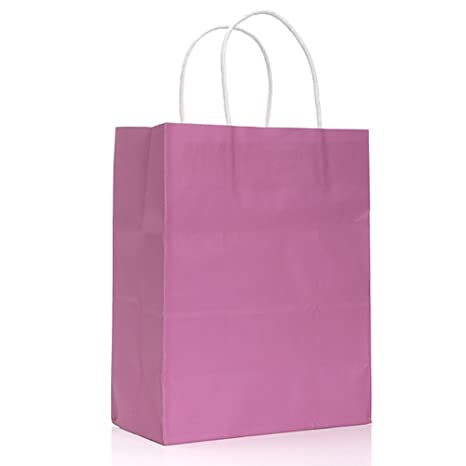 Amazon.com : 10 Pcs Colorful Kraft Paper Bag Luxury ...