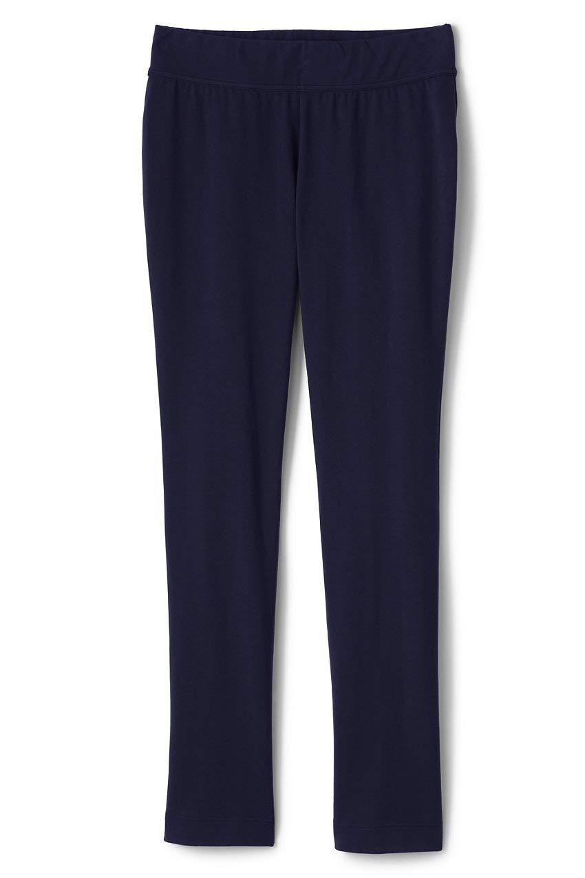 Lands' End Women's Plus Size Starfish Mid Rise Slim Leg Elastic Waist Pull On Pants 2X Blue by Lands' End