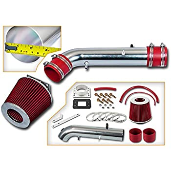 95-99 Tacoma 2.4L L4 95-99 Tacoma 2.7L L4 High Performance Parts Short Ram Air Intake Kit /& Red Filter Combo Compatible for Toyota 96-99 4Runner