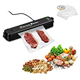 Vacuum Sealer Food Vacuum Sealer Machine Automatic Vacuum Air Sealing System Sous Vide Cook Vacuum Packing Machine for Dry Moist Food/Jewelry Preservation Storage-15pcs Free Sealer bags included