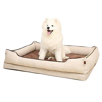Cama perro Sofá para Perros Grandes con Funda extraíble Gatos para Mascotas de Interior Camas para Perros Beige 120cmX88cmX25cm: Amazon.es: Hogar