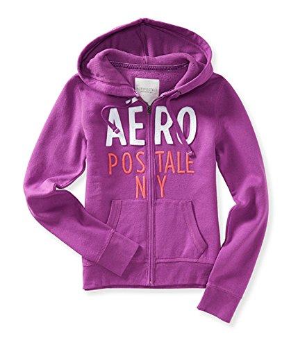 Aeropostale Womens Stacked Logo Hoodie Sweatshirt 541 M