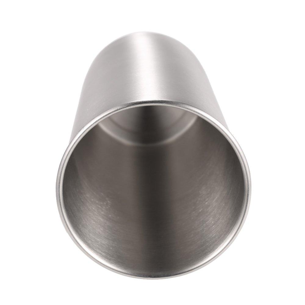 Anself 5PCS Stainless Steel Pint Cups Tumbler Beer Mug Travel /& Cooler Mugs Party Camping Picnic Juice Cup Drop Resistance