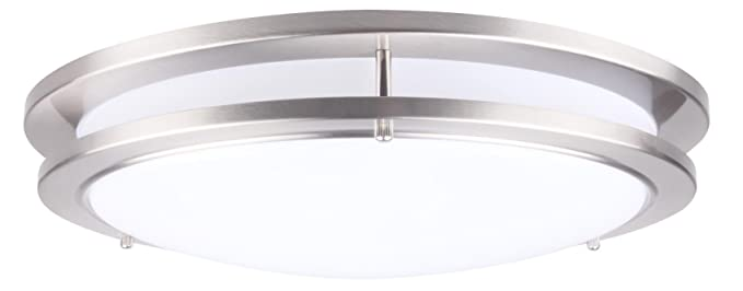 Lit-Path 15 inch Dimmable LED Flush Mount Ceiling Lighting Fixture ...