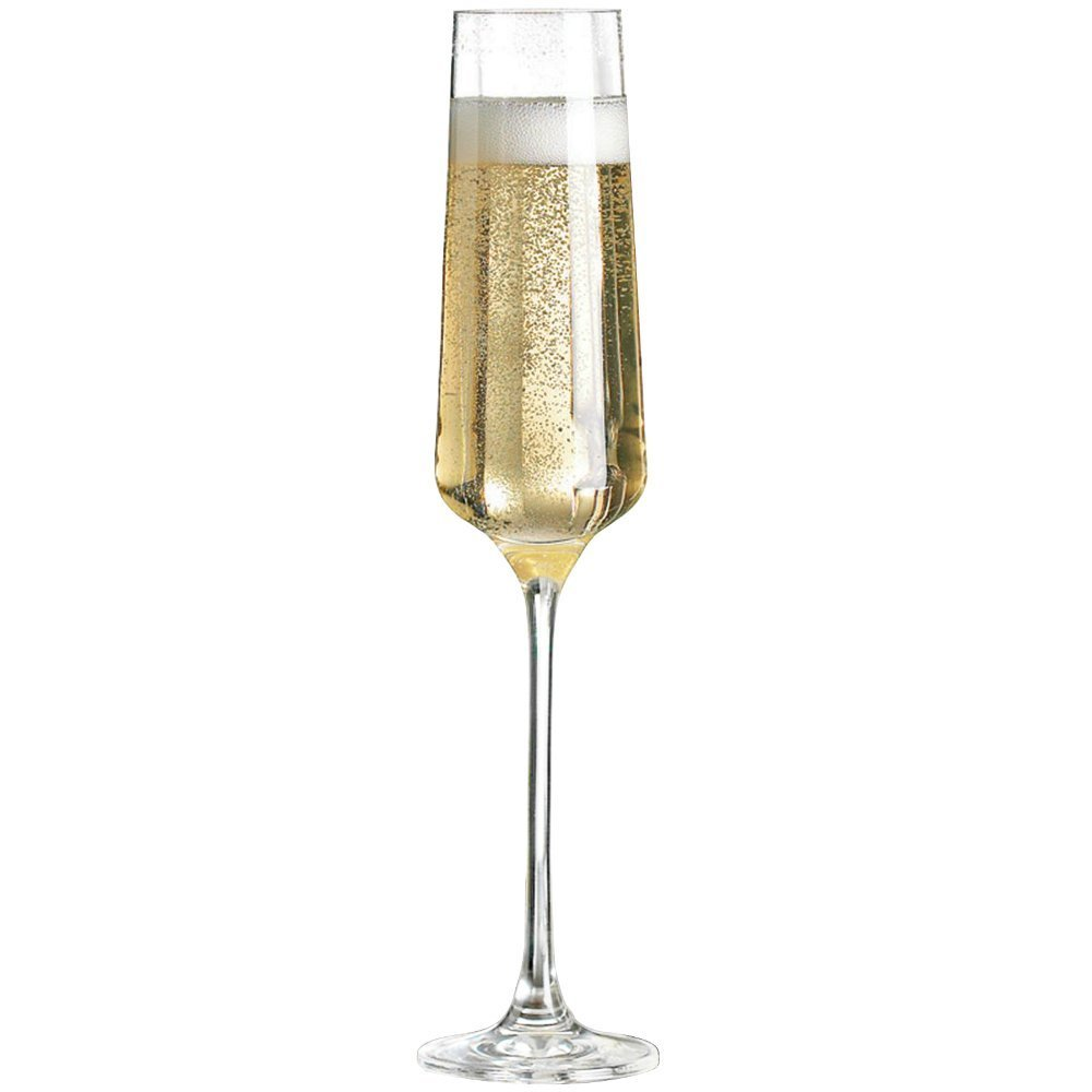 Wine Enthusiast Set of 4 Fusion Infinity Champagne Flutes 734 04 04