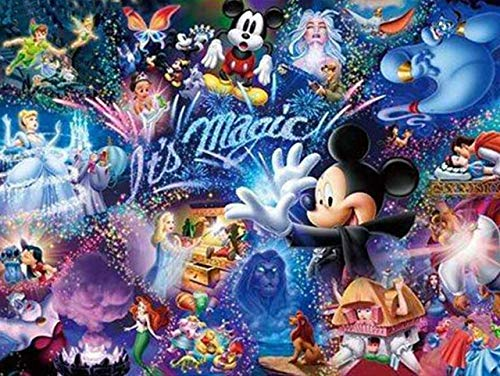 5D Diamond Painting Kits Full Drill Disney Diamond Embroidery,Mickey Mouse Diamond Kit Home Wall Decor 12x16Inch 76