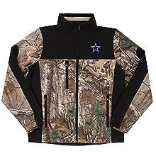 NFL Dallas Cowboys Hunter Colorblocked Softshell Jacket, Real Tree Camouflage, 2X