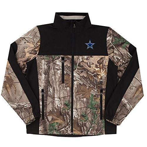 - NFL Dallas Cowboys Hunter Colorblocked Softshell Jacket, Real Tree Camouflage, 2X