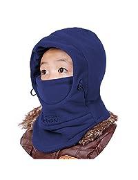 Azarxis Kids Children's Fleece Balaclava Face Mask Windproof Thicken Winter Hat Neck Warmer Ski Mask