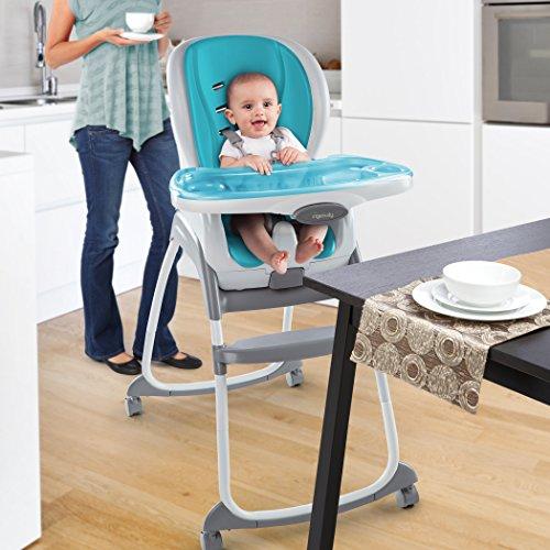 Ingenuity SmartClean Trio 3-in-1 High Chair, Aqua by Ingenuity (Image #2)