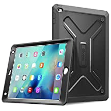 iPad Mini 4 Case - Poetic iPad Mini 4 Case [Revolution Series] - [Heavy Duty] [Dual Layer] Complete Protection Hybrid Case with Built-In Screen Protector for Apple iPad Mini 4 Black (3 Year Manufacturer Warranty From Poetic)