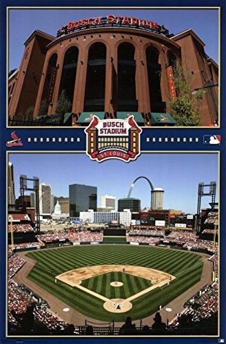Busch Stadium Poster 22 x 34in (New Busch Stadium Pictures)
