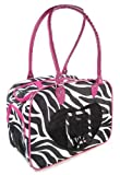 J Garden Zebra Pet Purse (Pink)