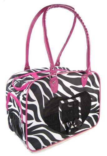 J Garden Zebra Pet Purse (Pink)
