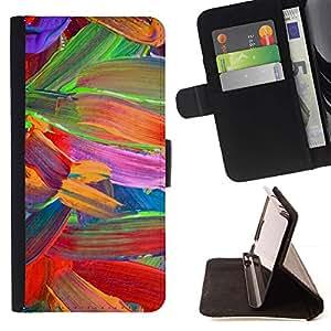 For Samsung Galaxy A5 ( A5000 ) 2014 Version Case , Floral Colores vibrantes del loro- la tarjeta de Crédito Slots PU Funda de cuero Monedero caso cubierta de piel