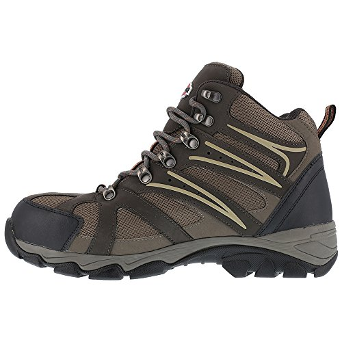 Iron Age Mens Ia5200 Surveyor Industrial and Construction Shoe Brown Leather/Mesh KgOM5pG3