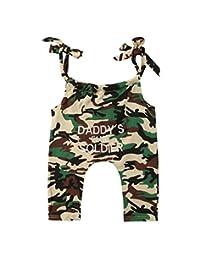 rechange Baby-Boys' Sleeveless Straps Bodysuit Bandage Jumpsuit Playsuit