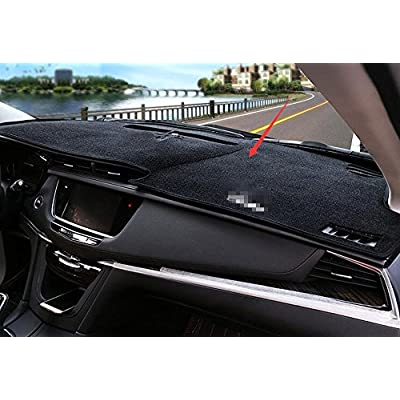 Salusy Black Dashboard Dash Protector Dash Mat Sun Cover Pad For Cadillac XT5 2020 2020 2020: Automotive