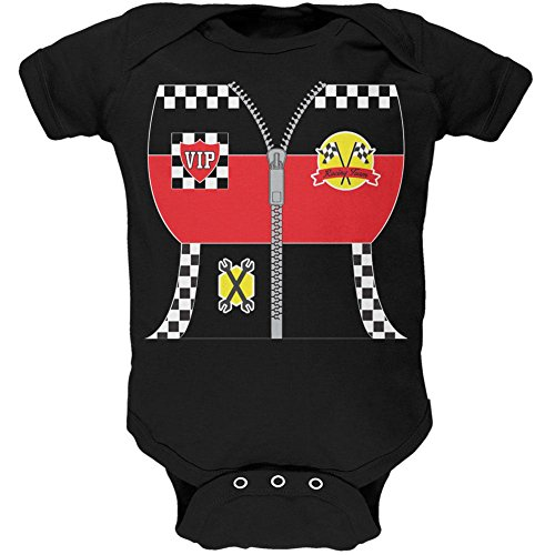 Halloween Hot Rod Costume Racing Soft Baby One Piece Black 24 -