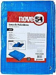 Lona De Polietileno Azul 8 M X 6 M Nove54 Nove 54