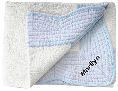 Personalized Baby Blanket All Weather Embossed Detail Cot...