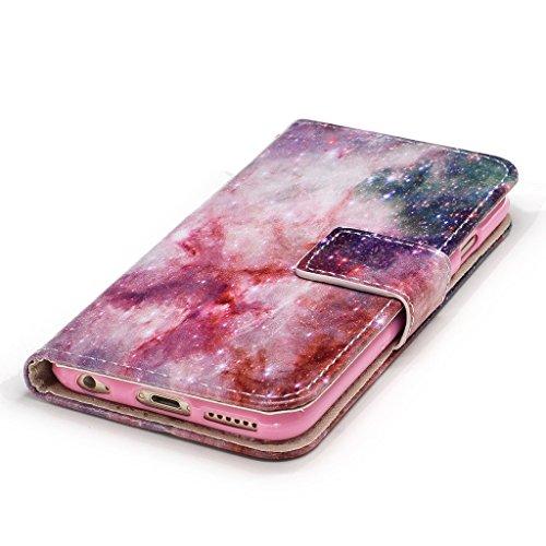 iPhone 6 Plus / 6S Plus Coque,confusion étoile Portefeuille Fermoir Magnétique Supporter Flip Téléphone Protection Housse Case Étui Pour Apple iPhone 6 Plus / 6S Plus + Deux cadeau