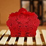 Best Weddings With Gift Boxes - PONATIA 50 PCS Laser Cut With Ribbon Wedding Review