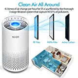 HOKEKI Air Purifier for Large Room with Air Quality Auto Sensor, True HEPA Air Cleaner Filter, 5-in-1 Odor Eliminator with Night Light for Home Office