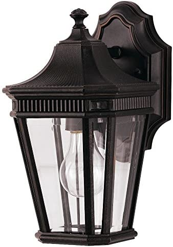 Feiss OL5400GBZ-LED Cotswold Lane LED Outdoor Patio Wall Lantern, Grecian Bronze 1-Light 7 W x 12 H 14 Watts