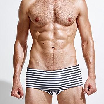 ZQ@QXGli uomini del boxer a righe tronchi, L QIANPantaloni di nuoto