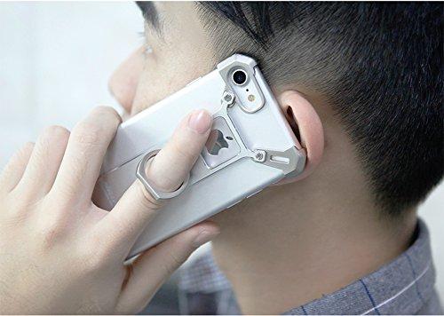 Funda iPhone 7 Plus, NILLKIN Metal Funda para iPhone 7 Plus, Carcasa con Anillo para Apple iPhone 7 Plus, Proporciona la Buena Protección, No Descolora y Rasguña-resistente, iPhone 7 Plus Funda Metal, Plata