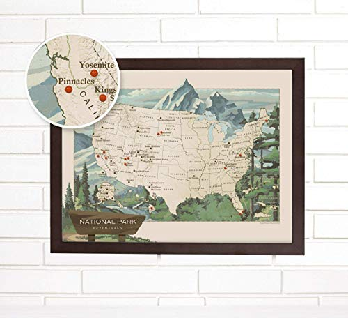 National Parks Push Pin Map | Travel | Wendy Gold