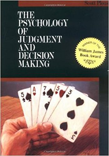 The Psychology of Judgment and Decision Making (McGraw-Hill Series in Social Psychology) by Brand: McGraw-Hill