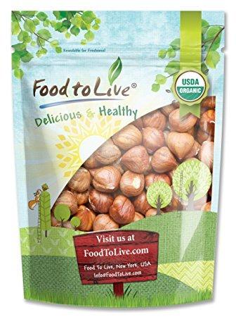 Organic Hazelnuts / Filberts, 4 Pounds - Non-GMO, Kosher, Vegan, Raw, No Shell, Bulk