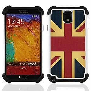 For Samsung Galaxy Note3 N9000 N9008V N9009 - UK united kingdom England flag GB Dual Layer caso de Shell HUELGA Impacto pata de cabra con im????genes gr????ficas Steam - Funny Shop -