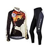 ZEROBIKE Women's Long Sleeve Cycling Outdoor Sports Jersey Polyester Full Zip Autumn